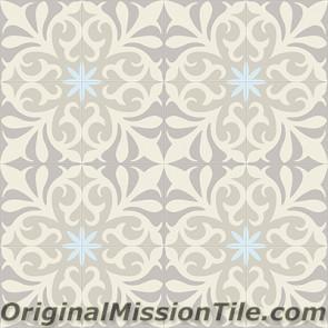 Original Mission Tile Cement Classic Nantes 02 - 8 x 8