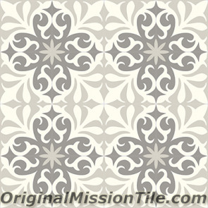 Original Mission Tile Cement Contemporary Nantes 03 - 8 x 8
