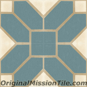 Original Mission Tile Cement Classic Naples 02 - 8 x 8