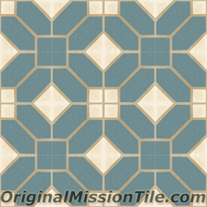 Original Mission Tile Cement Classic Naples 02 - 8 x 8