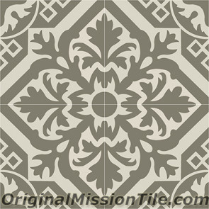 Original Mission Tile Cement Contemporary New Castle 04 - 8 x 8
