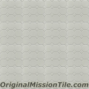 Original Mission Tile Cement Relief Octagonos - 8 x 8