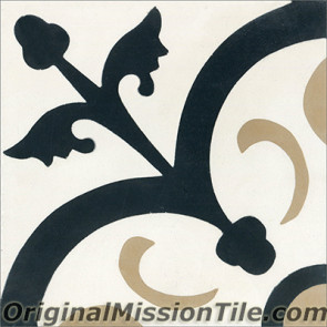 Original Mission Tile Cement Classic Orleans 01 - 8 x 8