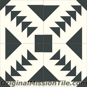 Original Mission Tile Cement Contemporary Palace 01 - 8 x 8