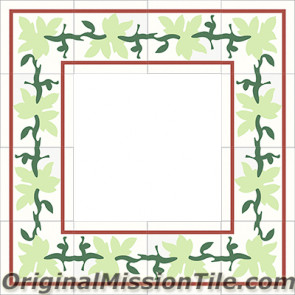 Original Mission Tile Cement Border Parra - 8 x 8