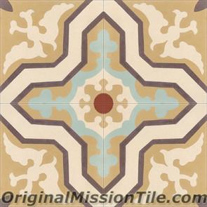 Original Mission Tile Cement Classic Pescadero - 8 x 8
