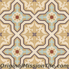 Original Mission Tile Cement Classic Pescadero - 8 x 8