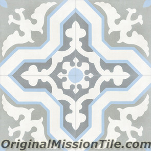 Original Mission Tile Cement Classic Pescadero 04 - 8 x 8