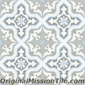 Original Mission Tile Cement Classic Pescadero 04 - 8 x 8