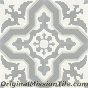 Original Mission Tile Cement Contemporary Pescadero 05 - 8 x 8
