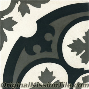 Original Mission Tile Cement Contemporary Philadelphia II 02 - 8 x 8