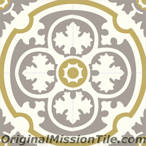 Original Mission Tile Cement Classic Philadelphia SL 04 - 8 x 8