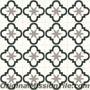 Original Mission Tile Cement Contemporary Quatro Foil 01 - 8 x 8