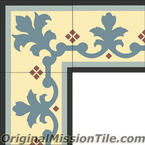 Original Mission Tile Cement Border Queen - 8 x 8
