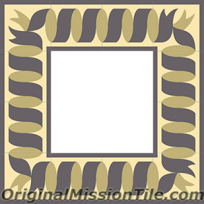 Original Mission Tile Cement Border Ribbon - 8 x 8