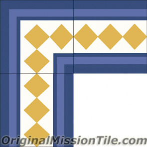 Original Mission Tile Cement Border Ritz - 8 x 8