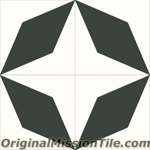 Original Mission Tile Cement Contemporary Rombo 01 - 8 x 8