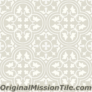 Original Mission Tile Cement Contemporary Roseton 03 - 8 x 8