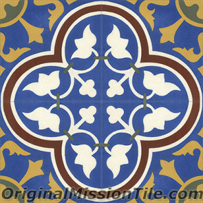 Original Mission Tile Cement Classic Roseton 05 - 8 x 8