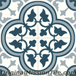 Original Mission Tile Cement Classic Roseton 10 - 8 x 8