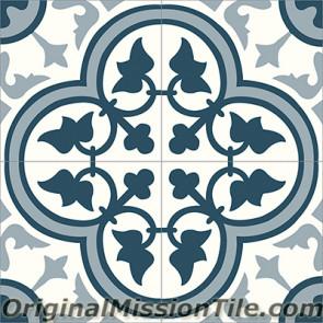 Original Mission Tile Cement Classic Roseton 10 - 8 x 8