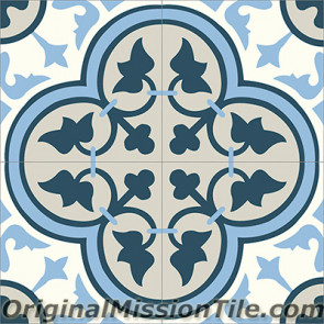 Original Mission Tile Cement Classic Roseton 11 - 8 x 8
