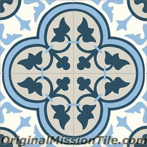 Original Mission Tile Cement Classic Roseton 11 - 8 x 8