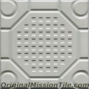Original Mission Tile Cement Relief San Luis - 8 x 8