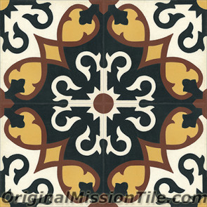 Original Mission Tile Cement Moroccan Sanctuaire - 8 x 8