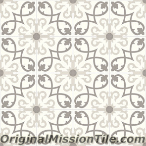 Original Mission Tile Cement Contemporary Sanctuaire II 01 - 8 x 8