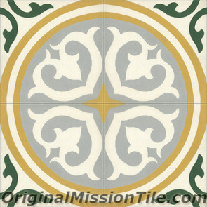 Original Mission Tile Cement Classic Santa Maria - 8 x 8
