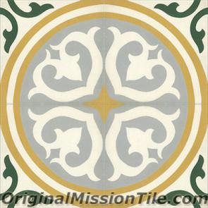 Original Mission Tile Cement Classic Santa Maria - 8 x 8