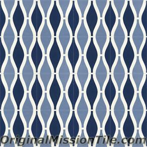 Original Mission Tile Cement Oceana Sea Breeze 01 - 8 x 8