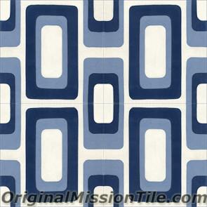 Original Mission Tile Cement Oceana Sea Island 01 - 8 x 8