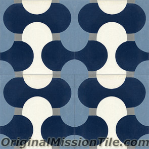 Original Mission Tile Cement Oceana Sea Shell - 8 x 8