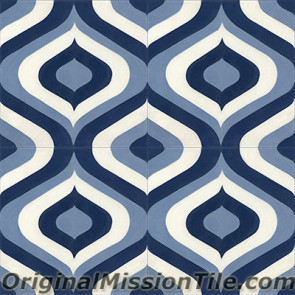 Original Mission Tile Cement Oceana Sirene 02 - 8 x 8
