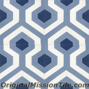 Original Mission Tile Cement Oceana Skyline 02 - 8 x 8