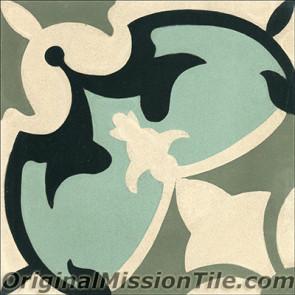 Original Mission Tile Cement Classic Sofia 02 - 8 x 8
