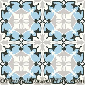 Original Mission Tile Cement Classic Sofia 03 - 8 x 8