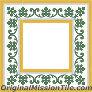 Original Mission Tile Cement Border Susan - 8 x 8
