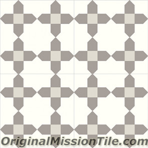 Original Mission Tile Cement Contemporary Tanger 02 - 8 x 8