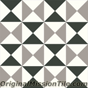 Original Mission Tile Cement Contemporary Tango 01 - 8 x 8