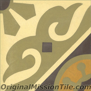 Original Mission Tile Cement Classic Torino - 8 x 8