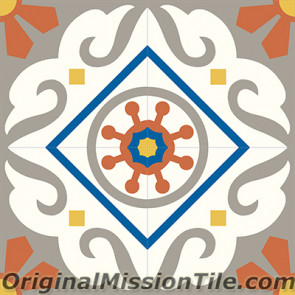 Original Mission Tile Cement Classic Torino 03 - 8 x 8