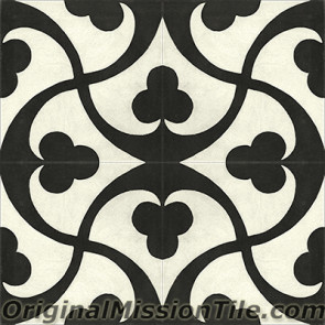 Original Mission Tile Cement Contemporary Trebol 02 - 8 x 8