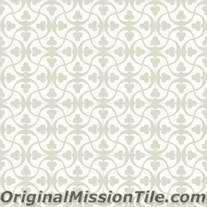 Original Mission Tile Cement Contemporary Trebol II 01 - 8 x 8