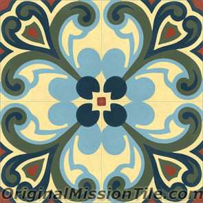 Original Mission Tile Cement Classic Tulipan - 8 x 8
