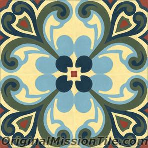 Original Mission Tile Cement Classic Tulipan - 8 x 8