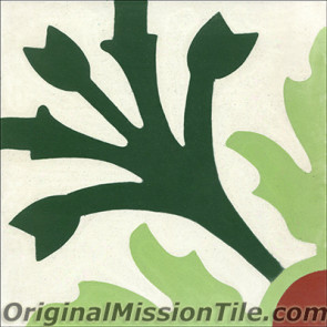 Original Mission Tile Cement Classic Tulipier - 8 x 8