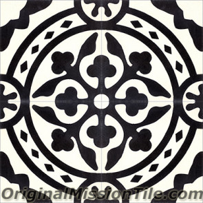 Original Mission Tile Cement Contemporary Tyler II 01 - 8 x 8